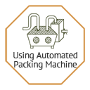 Packaging through automated packing machine