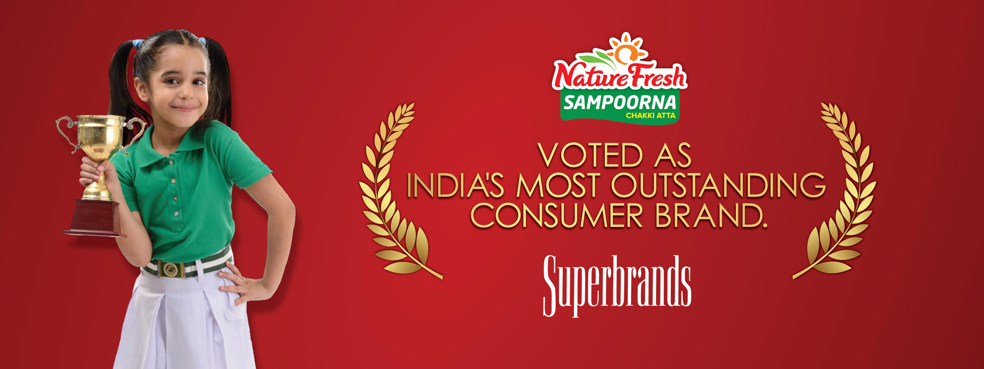 Nature Fresh Sampurna Chakki Atta Voted as India's most outstanding Consumer brand